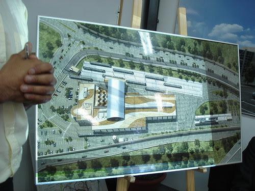 The future light-rail depot