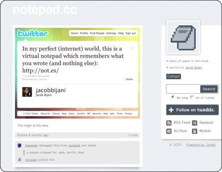 http://blog.notepad.cc/post/639086940/the-origin-of-the-idea