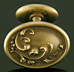 Art Nouveau feathery scroll cufflinks. (J9123)