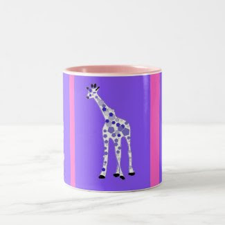 PURPLE Giraffe mug