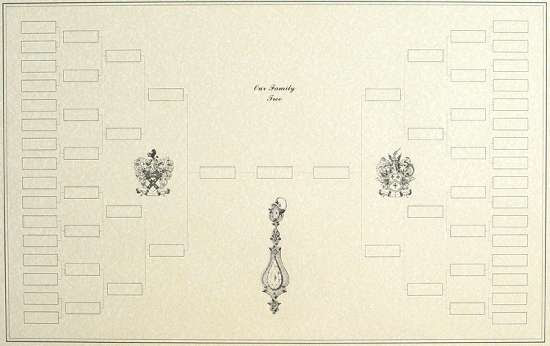 family tree template with pictures. 6-generation Blank Family Tree
