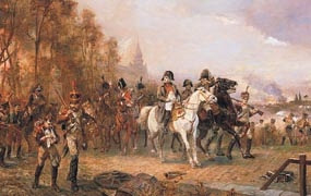 Representación de la batalla de Borodino, en la que Napoleón venció a los rusos. 1812