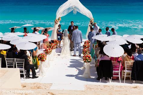 Ceremony in Cancun, Mexico Destination Indian Wedding by