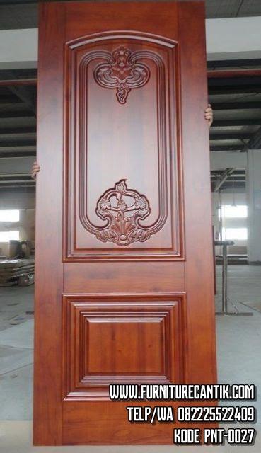 Daun Pintu Rumah Jati Klasik Mewah Toko Furniture Cantik Jepara