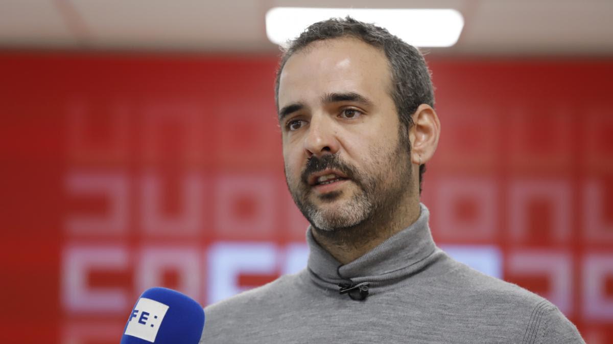 Carlos Gutiérrez, secretario de Juventud y Nuevas Realidades del Trabajo de CCOO
