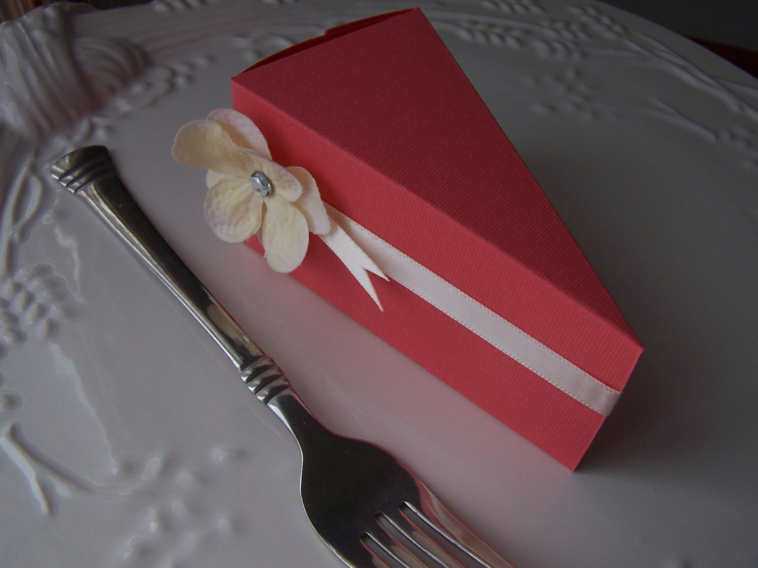 Raspberry Sherbert Paper Cake - Served by the Slice - set of 12