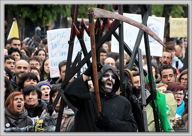 15 Manifestación contra el fracking en Burgos