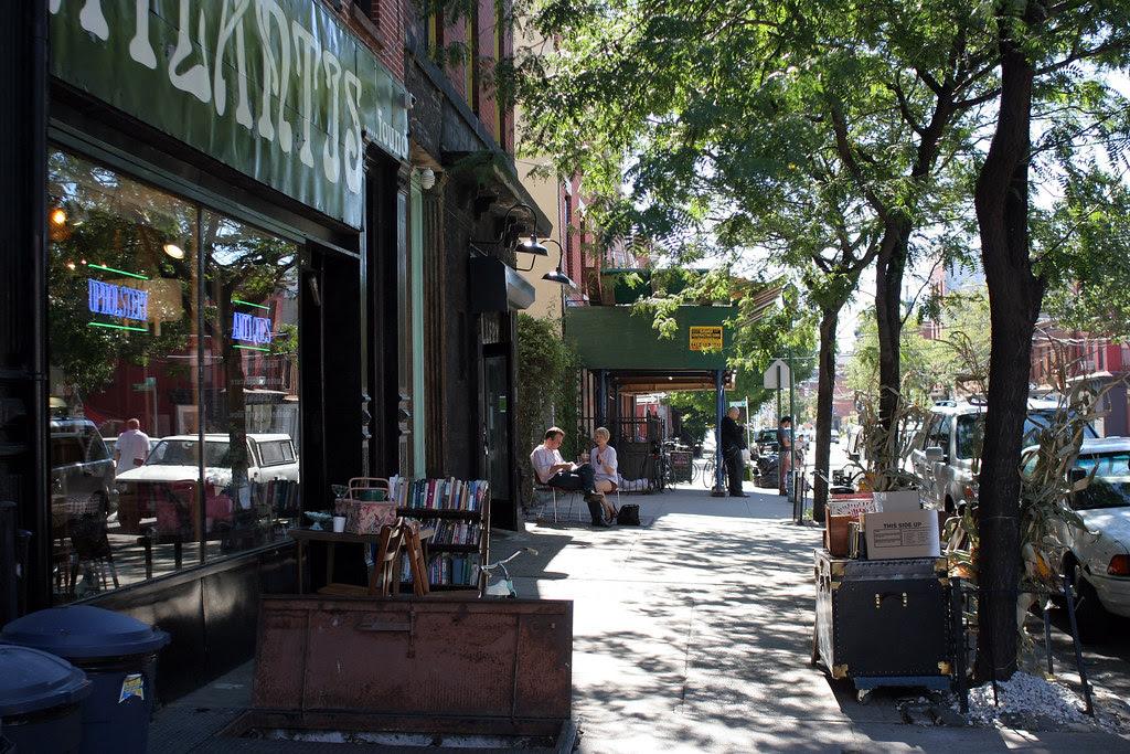 Dappled sidewalk