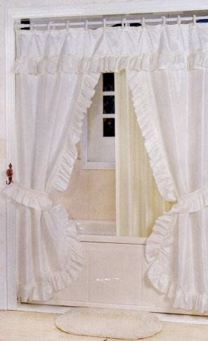 Double Swag Shower Curtain Liner Amp Rings White