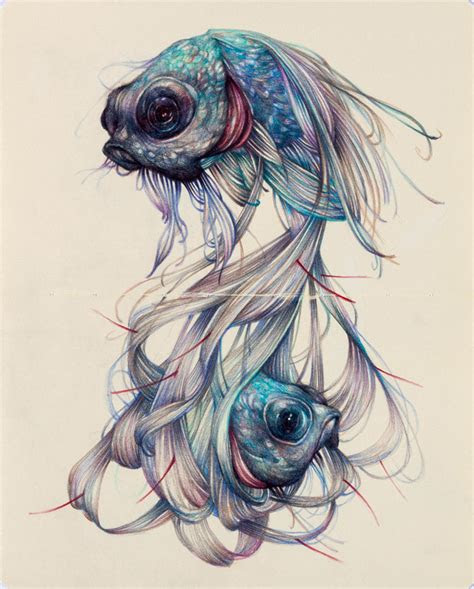 colored pencil drawings  marco mazzoni depict