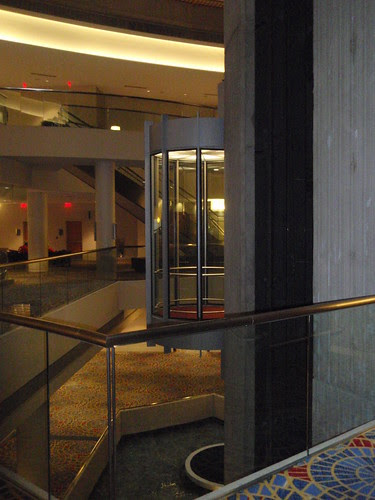 glass elevator