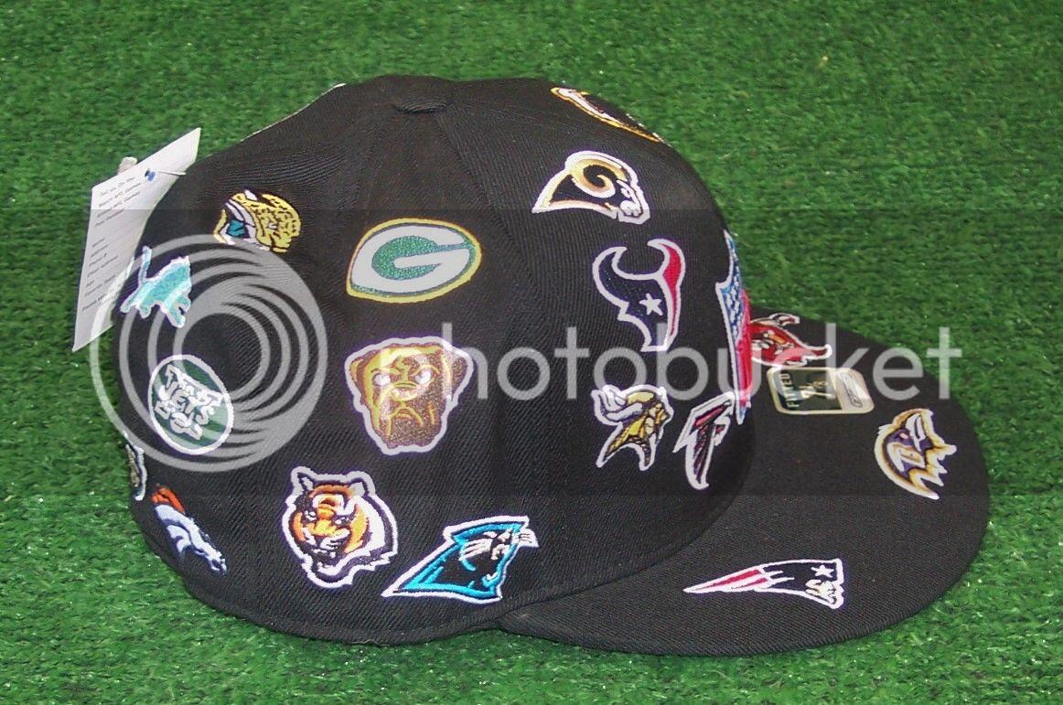NFL LOGO Hat Cap Licensed Fitted Reebok Size 7 1/4  eBay
