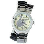 cute gray dragon mythical and fantasy creature art wristwatch