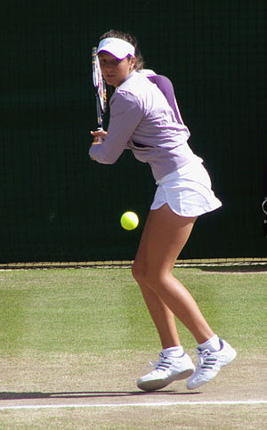 Laura Robson at the 2008 Wimbledon championships