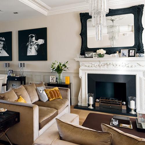 Caramel Living Room via housetohome