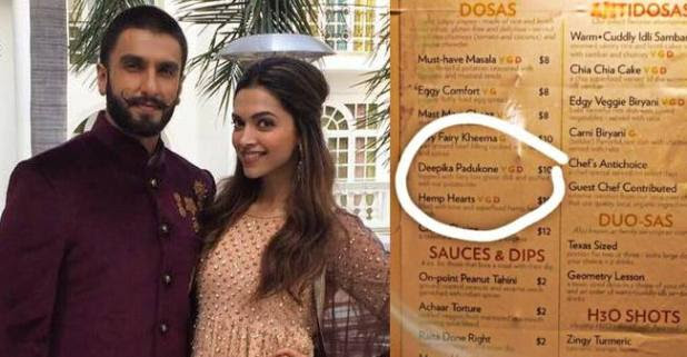 Indian hotel in the US has a dosa named after Deepika, Ranveer's reaction on this is epic