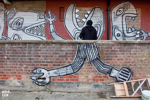 Nazir Tanbouli, Kings Land Mural Project, Haggerston London. Photo ©Hookedblog / Mark Rigney