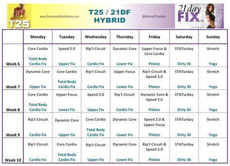 workout schedule hybrid blog dandk