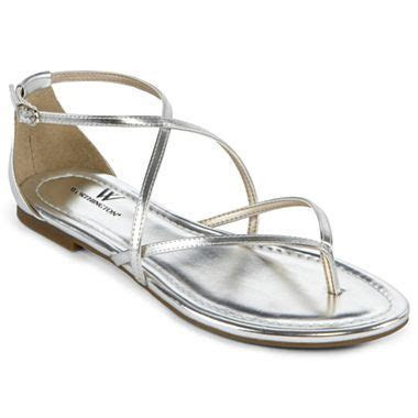 Worthington® Sara Strappy Flat Sandals   jcpenney   silver