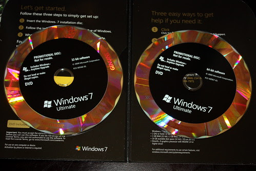 Both Windows 7 Discs by jonconnelly.