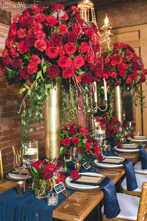 Rich Red and Gold Wedding Ideas   ElegantWedding.ca