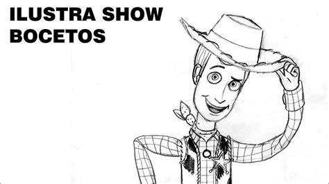 como dibujar  woody de toy story tutorial ilustra show