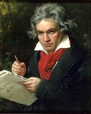 Ludwig van Beethoven painted by Joseph Karl Stieler in 1820