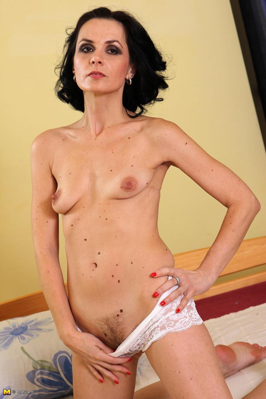 Mature Brunette Big Tits Solo