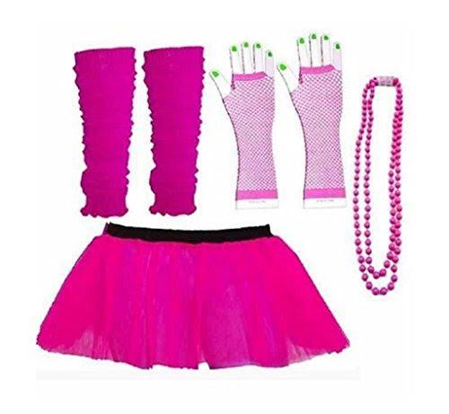 80s Dance Fancy Dress Costume Set