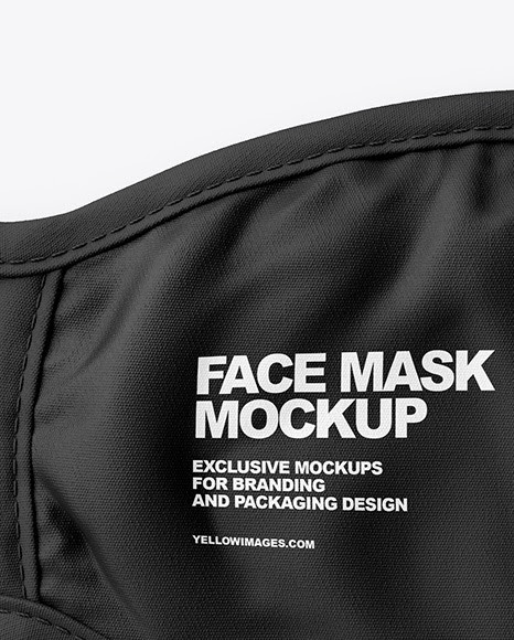Download Face Mask Mockup Template Free Yellowimages