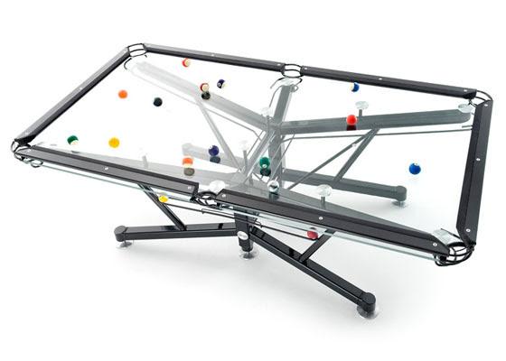 G-1 τραπέζι μπιλιάρδου γυαλί