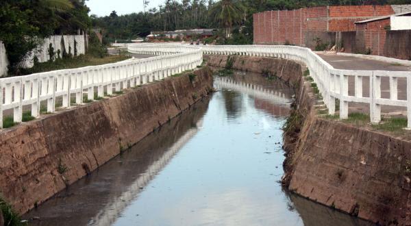 Canal do Rio Gangan: obra executada pela prefeitura