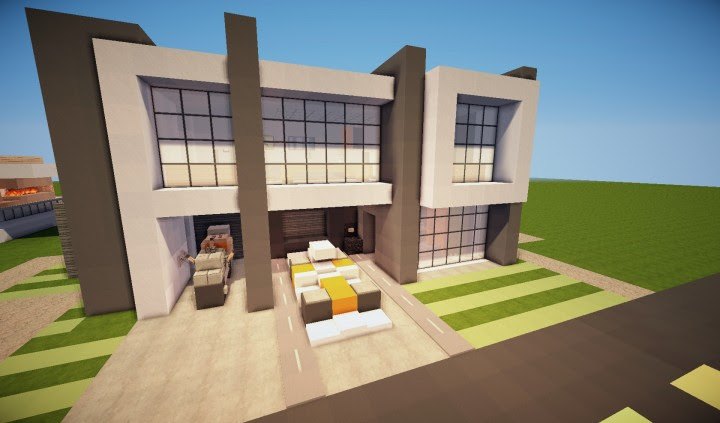 Como descargar casa moderna en minecraft 1 8 for Casa moderna 1 8
