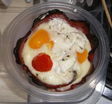 Gale Gand Ham and Egg Cups: After