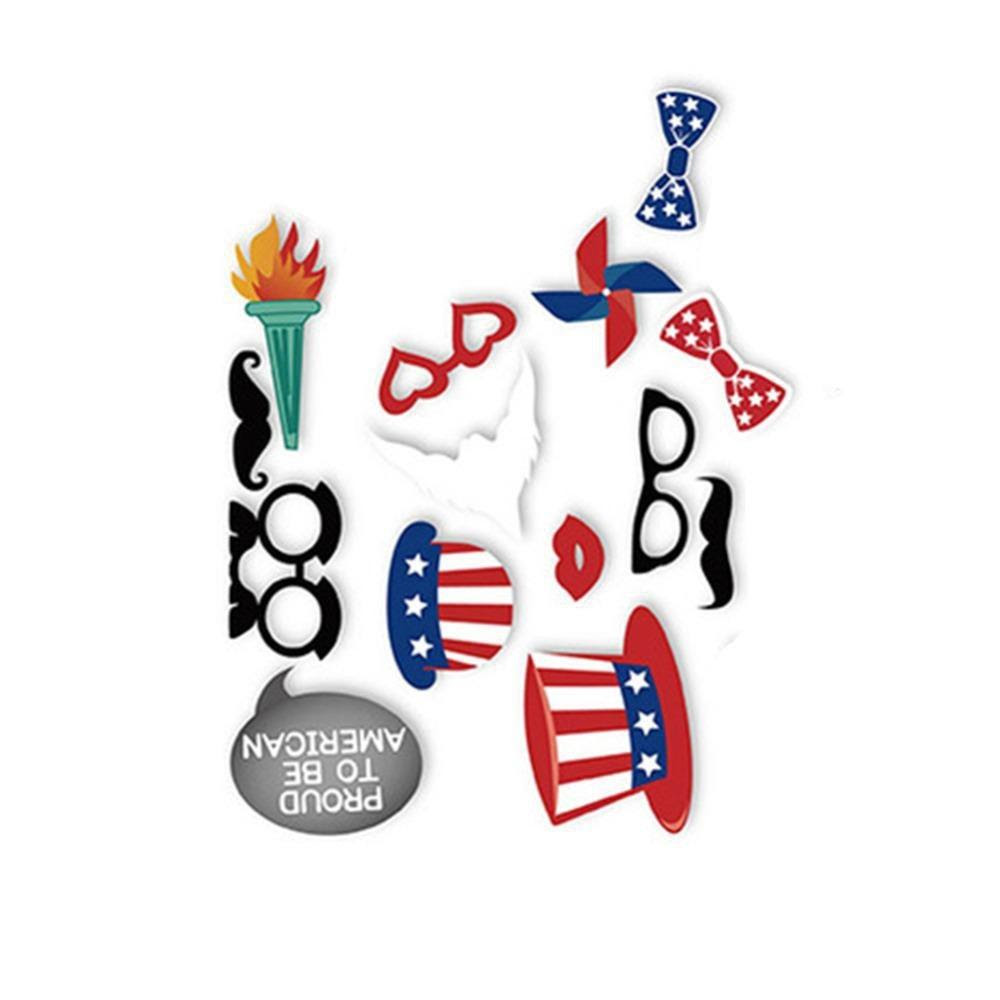 American Independence Day Happy 4th Of July Photo Booth Props Kit