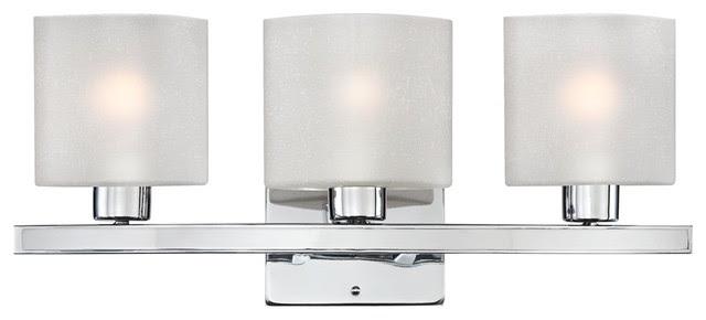 "Possini White Linen Glass Chrome 23 1/2"" Wide Bath Light"