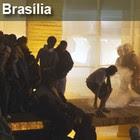 Manifestantes tentam invadir  o Itamaraty (André Dusek/ Estadão Conteúdo)