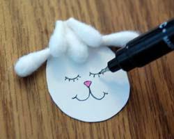 Cách làm chú cừu đáng yêu từ tăm bông