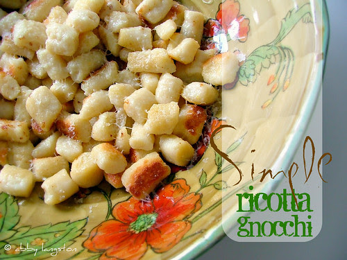 Simple Ricotta Gnocchi