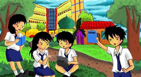 44 Koleksi Gambar Animasi Anak Smp Keren Gratis Terbaru