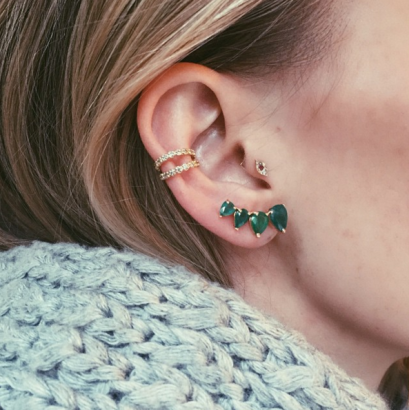 Hottest Trend Of 2016 Multiple Ear Piercings