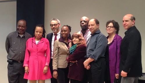Organizers and participants at New School for Shirley Clarke's The Cool World