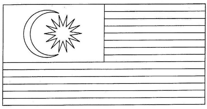 Lukisan Jalur Gemilang Bulan Bintang Bendera Malaysia Cikimm Com