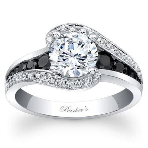 "Barkev's 14K White Gold and Black Diamond ""Halo Swirl"