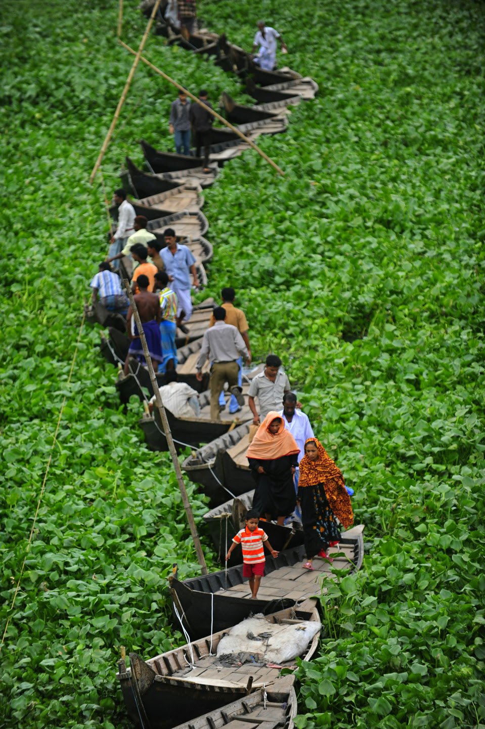 floating boat bridge