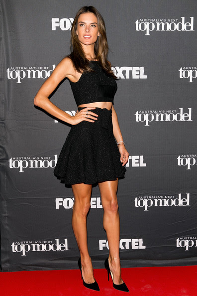 Alessandra Ambrosio Model Alessandra Ambrosio arrives at Australia's Next Top Model Elimination Set in Surry Hills on October 2, 2014 in Sydney, Australia.