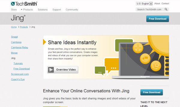 TechSmith 8 Aplicaciones gratis para grabar la pantalla del ordenador