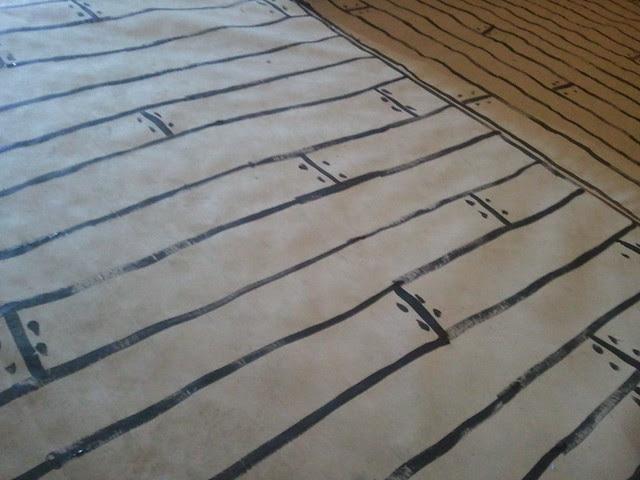 {handpainted} floor boards