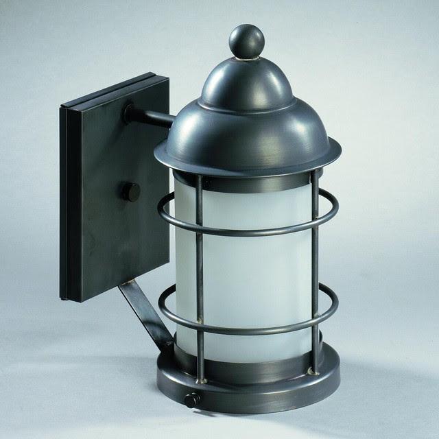 Restoration Warehouse Barn & Nautical Lantern - traditional ...
