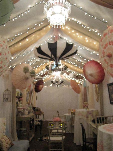 Chintz Holiday Party with 1950's pagoda umbrella decor